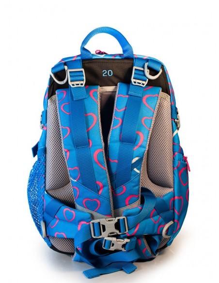 Bergans rastúci detský ruksak do školy a na turistiku 2GO 24L Srdiečka