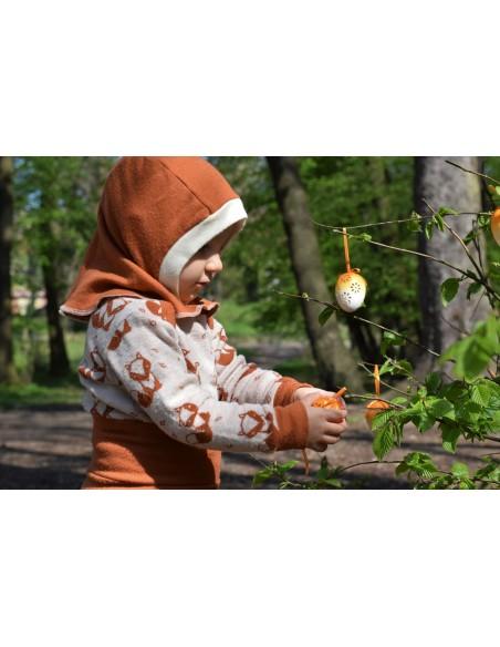 Crawler Merino detská kukla jednovrstvová Ryšavá