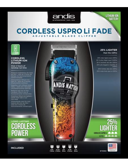 """ANDIS 73060 LCL profesionálny vyholovací strojček na vlasy farebný """"ANDIS NATION"""""""