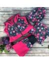 Unuo dievčenské softshellové nohavice s fleecom Kvietky
