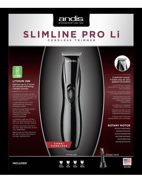 ANDIS 32485 D-8 Slimline Pro profesionálny kontúrovací strihací strojček Li-aku / kábel