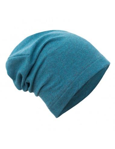 Unuo detská bavlnená čiapka Aqua melír