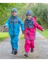 Unuo chlapčenské softshellové nohavice s fleecom pre najmenších Autíčka