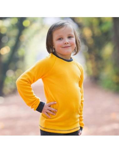 Crawler merino detské tričko hrubé