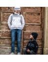 Kama pletený merino detský sveter na zips 1011